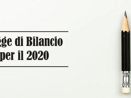 Informativa 02/2020 – Legge di Bilancio 2020 (L. 27.12.2019 n. 160) - Principali novità